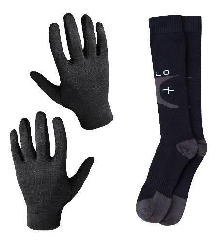 Medias termicas + guantes oslo invierno frio abrigo equipo