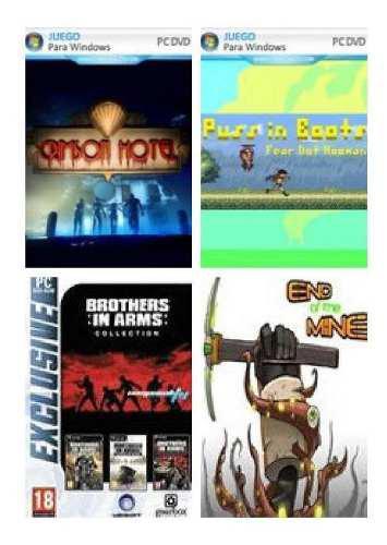 Pack de videojuegos pc x4 (a elección)
