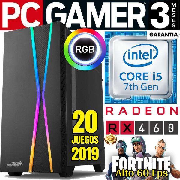 Pc gamer intel core i5 7400 rx460 igual a gtx 1050 20 juegos