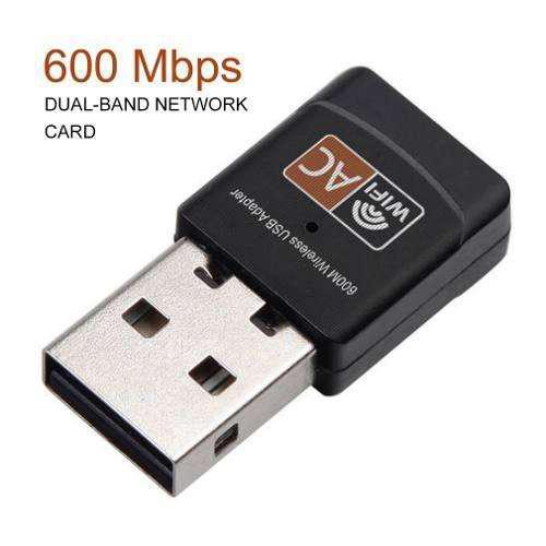 Placa de red wifi usb 5 ghz 802.11b/n/g/ac 600mbps
