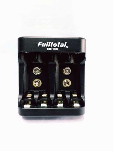 Cargador baterias 9v aa aaa 220v full total 1004