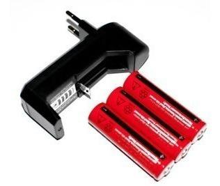 Cargador baterias linterna arduino + 3 pilas 18650 7800 mah