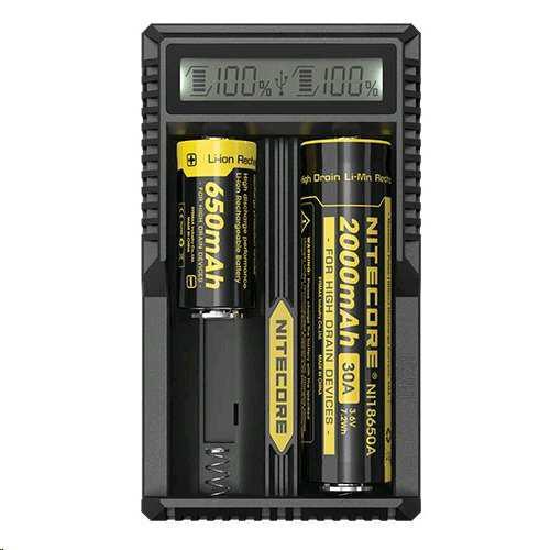 Cargador nitecore de baterias um20 usb 2 slot de carga y dis