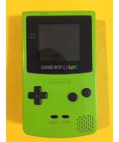 Game boy color color verde inmaculada + 2 juegos originales