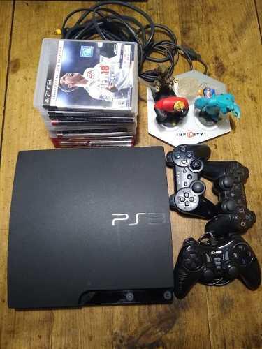 Ps3 160gb 10 juegos fisicos + 8 juegos digitales + 1joyst