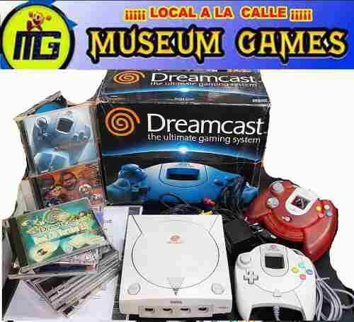 Sega dreamcast completa+ 2 joystick + 12 juegos +gtia local