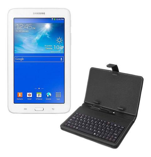 Tablet samsung galaxy gps wifi bluetooth + funda con teclado