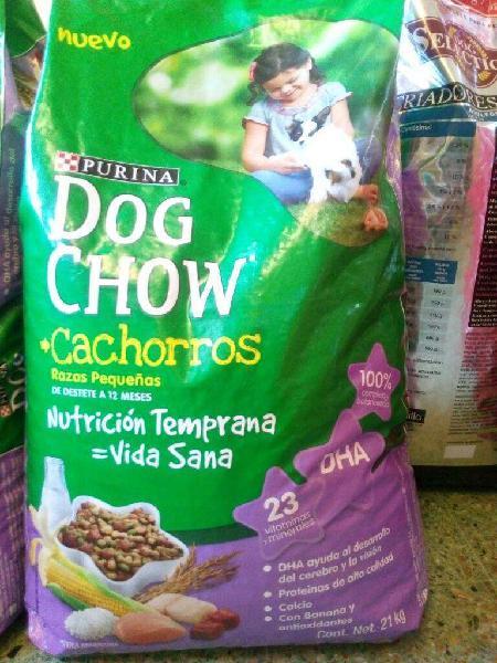 Alimento bal. dog chow cachorro x 21kg