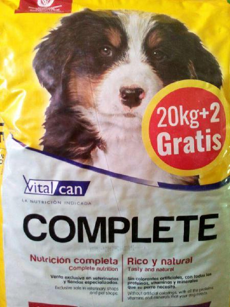Alimento balanceado vital can complete x 20kg