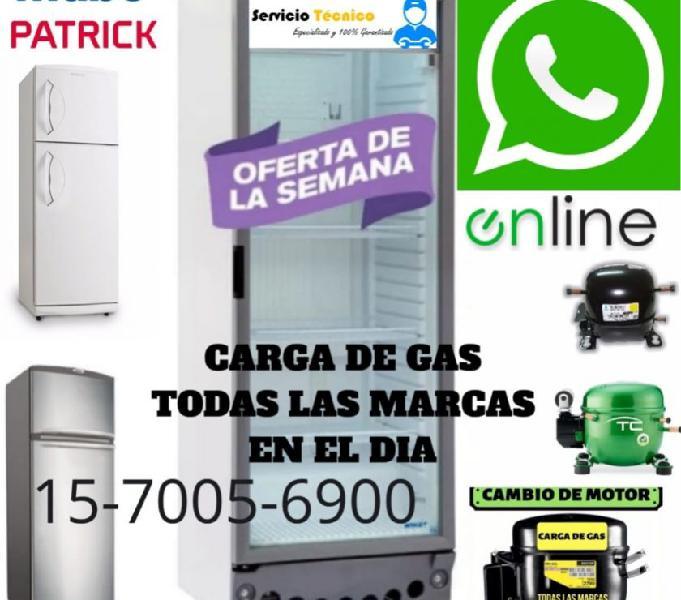 Service heladeras comercial reparacion carga gas 1563835107