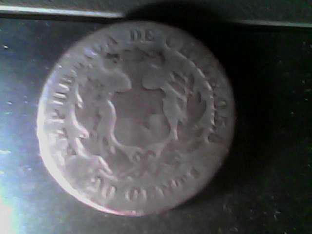 Vendo moneda 20 centavos de plata chilena en las heras