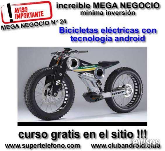 Bicicletas electronicas con tecnologia androi en Moreno