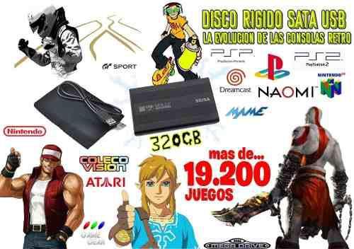 Disco retro gamer + de 19 mil juegos arcade y consolas como