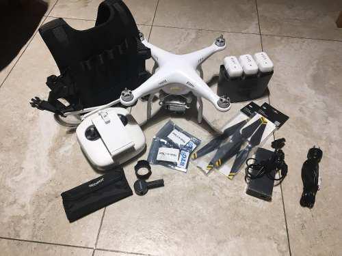 Dji phantom 3 pro 3bat + hdmi para transmision y accesorios
