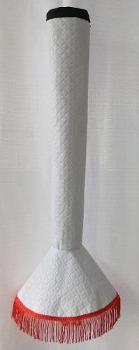 Funda cubre palanca largo - en cuerina matelasé y flecos