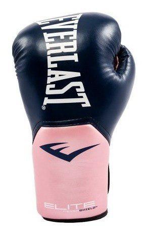Guantes boxeo everlast elite mujer rosa azul kick boxing