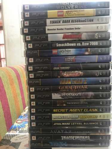 Lote 22 juegos originales psp play portátil en caja y