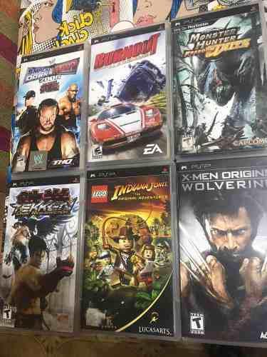 Lote de juegos psp portable se vende completo 22 cartuchos