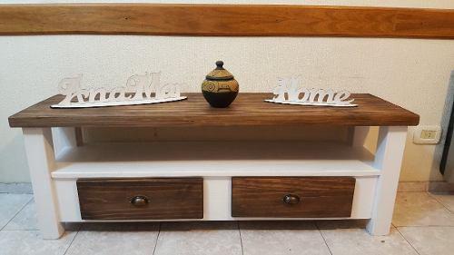 Mueble led rack lcd / mesa / plasma / 1 mt. 1 cajon /pintada