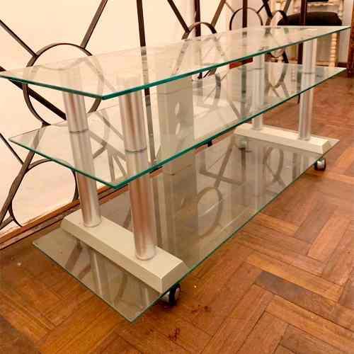 Mueble mesa para lcd tv led plasma de vidrio templado