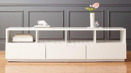 Mueble tv led mesa plasma modular rack laqueado moderno 1.8m