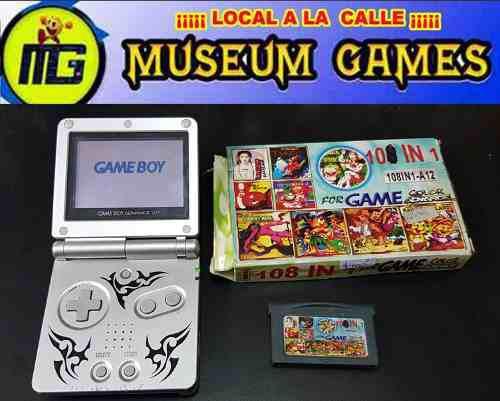 Nintendo game boy advance sp + cable cargador + juegos local