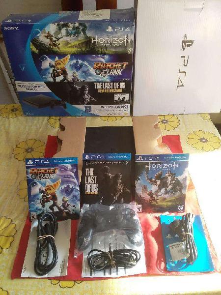 Playstation 4 play 4 ps4 slim cuh2015a 1joystick 2 juegos
