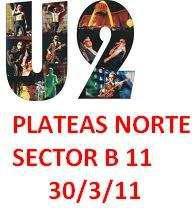 U2 plateas norte en Buenos Aires