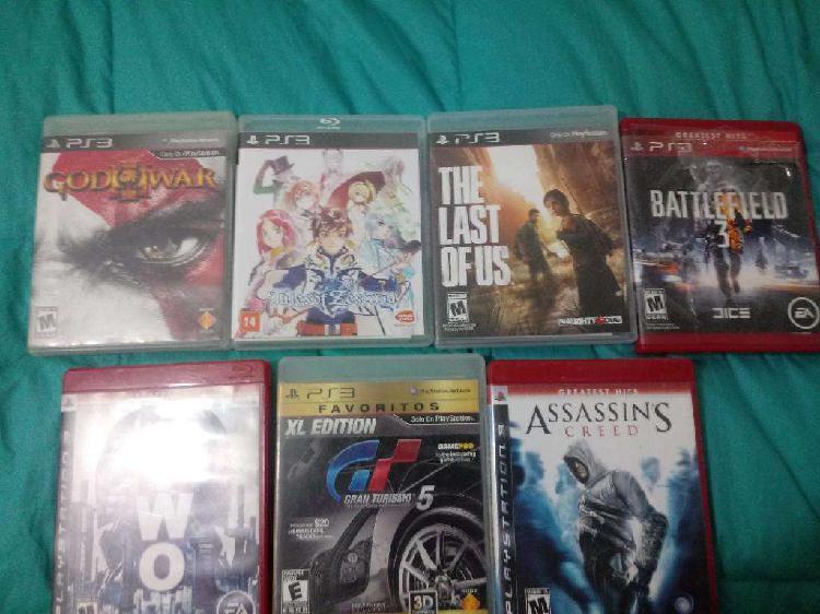 Vendo juegos de play 3
