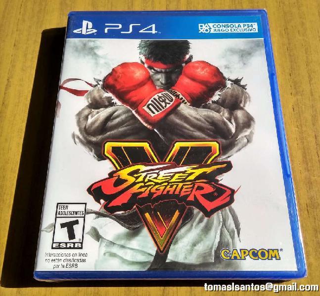 Videojuego street fighter v para ps4 nuevo sellado.