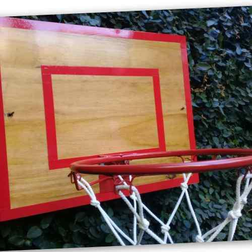 Aro de basquet infantil con tablero mini