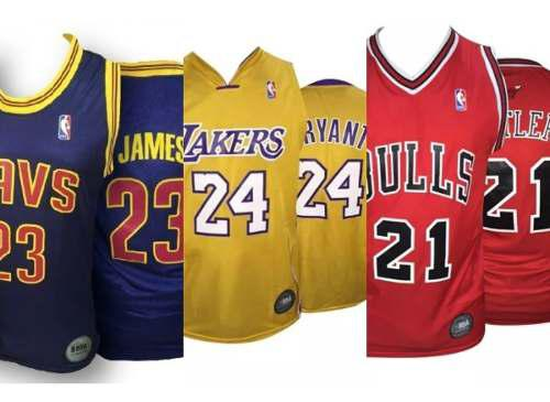 Camiseta basquet nba lakers chicago bulls cleveland olivos