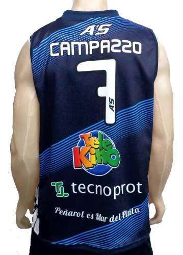 Camiseta de basquet peñarol mdp de facu campazzo retro a's