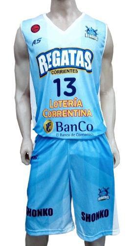 Camiseta de basquet regatas celeste corrientes 18/19 a's