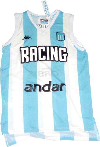 Camiseta musculosa de básquet racing oficial kappa