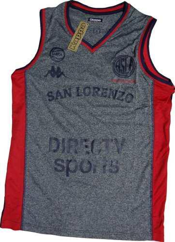 Camiseta musculosa de básquet san lorenzo oficial casla 17