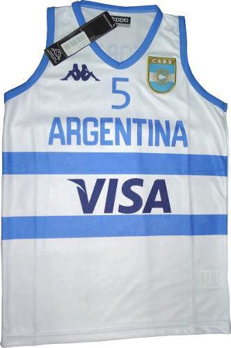 Camiseta oficial ginobili basquet kappa argentina