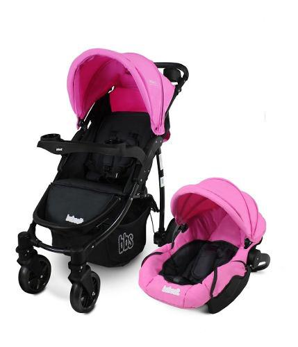 Coche travel system huevito bebesit rosso 1335ts rosa devoto