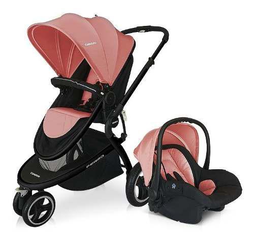 Cochecito coche bebe ferro carestino jogger rosa +accesorios