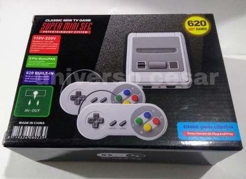 Consola d juegos super mini sfc 8 bits 620 juegos 2 joystick