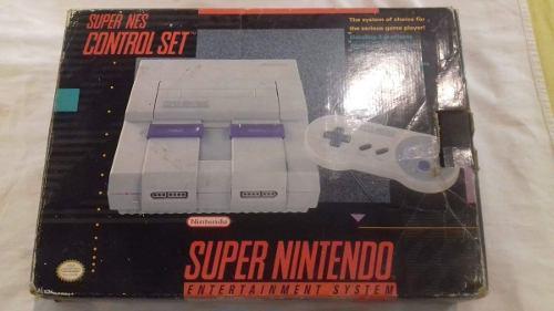 Consola super nintendo nes original completa con dos juegos