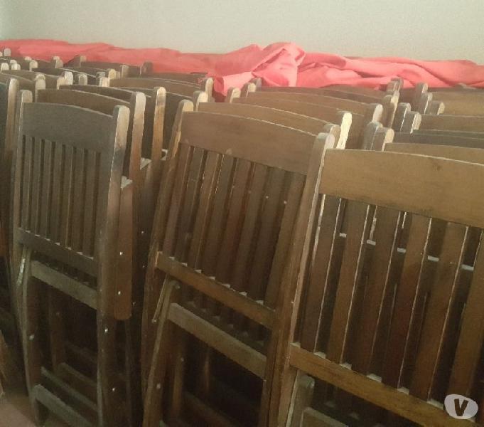 Lote mesas y sillas madera barcervecerias $20000 cmodulo
