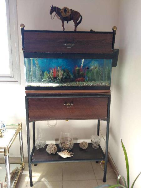 Pecera acuario completo