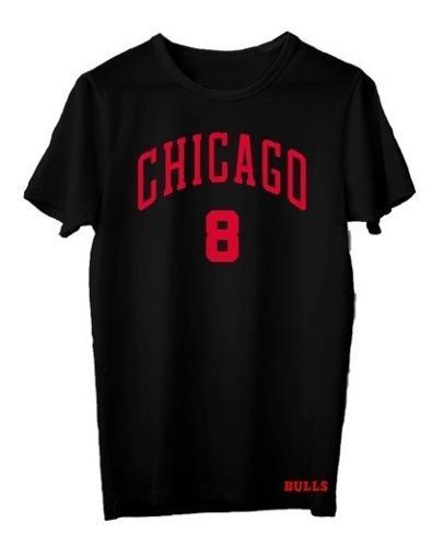 Remera basket nba chicago bulls (001) #8 zach lavine