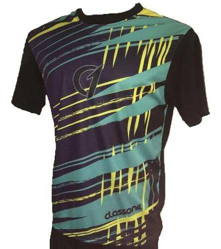 Remera sublimada class one dry fit tenis padel colores