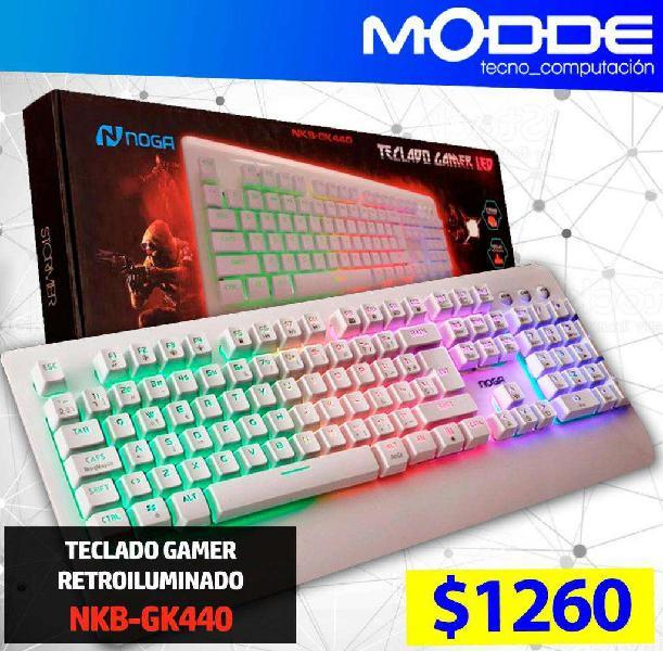 TECLADO GAMER RETROILUMINADO NKB-GK440 // MODDE TECNO