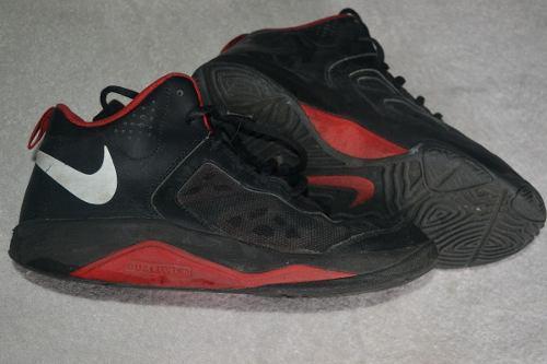 Zapatillas nike basket negras - botas basquet - originales