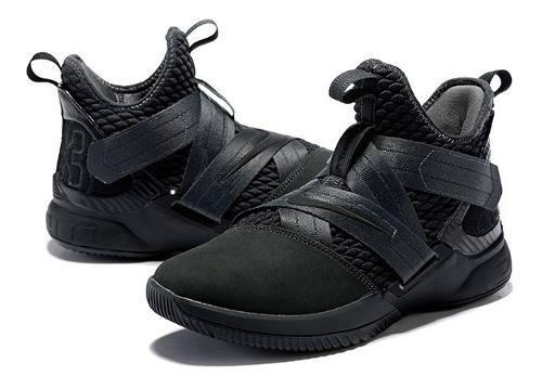 Zapatillas nike lebron soldier xii black/gum basquet pro