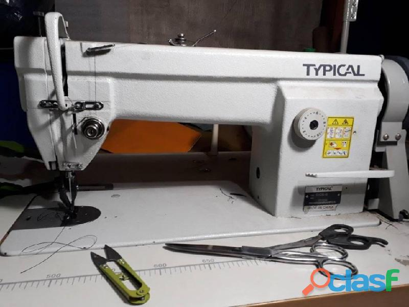 Maquina de coser typical recta industrial doble arrastre