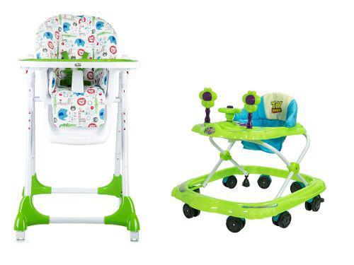 Andador disney pixar + silla comer bebes plegable suecia